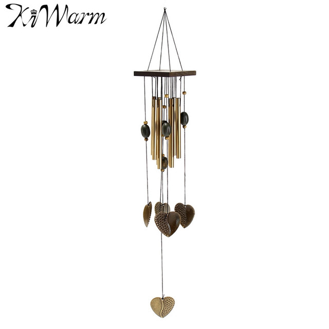 Antique Love Heart Windchimes Wind Chime Metal 8 Tubes Hanging Ornament  Garden Home Living Room Yard