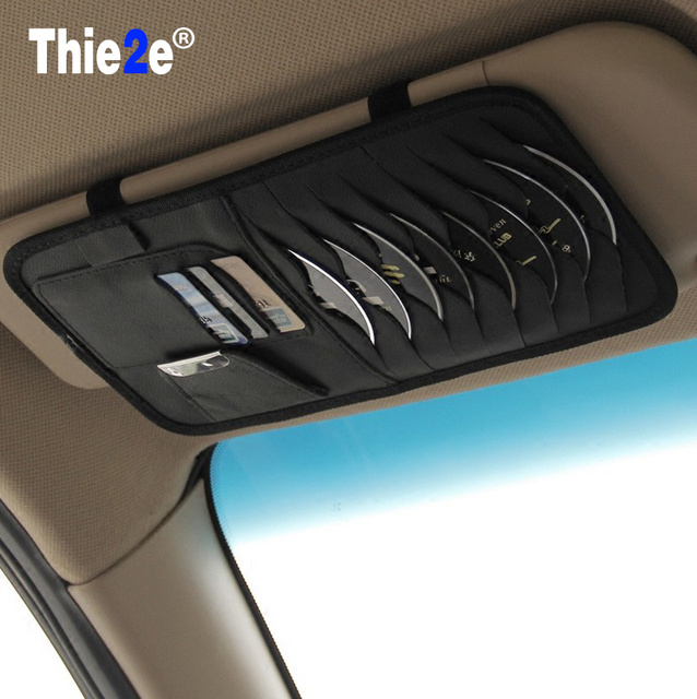 high-grade Sun Visor Storage Bag Car Notes Pouch CD Receive Bag DVD Disk Card Visor Case Folder Pocket for e90 e60 e46 e39