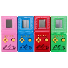 1PCS Classic Tetris game console Video Player Color mixing LCD Toys Fun Brick Puzzle andheld Game Console