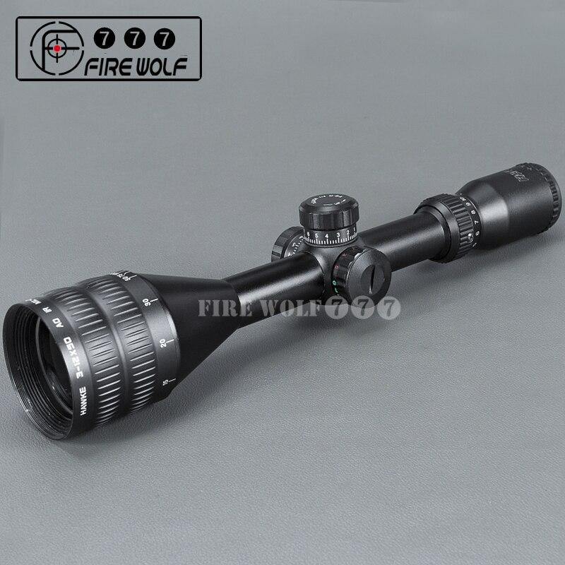 HAVVKE Sport 3-12x50 AOE Riflescope Illuminated Riflescope Reticle Luneta Para Rifle Sniper Scope For Hunting Red Dot цена