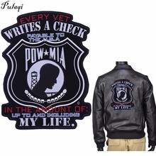 Pulaqi US Vietnam War Military Patch Iron On Punk Style Big For Man Biker Clothing Cool Decor Washable Sticker H