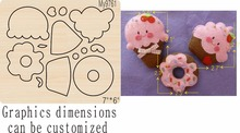 Ice cream wooden mold-2 die cut accessories wooden die Regola Acciaio Die Misura , MY футболка acciaio