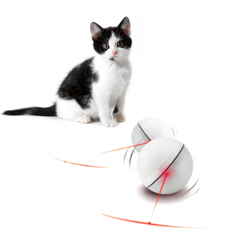 Engraçado Animal de Estimação Do Cão Do Gato LEVOU Luz Bola Mágica Teaser Exercício Interativo Brinquedos Automáticos