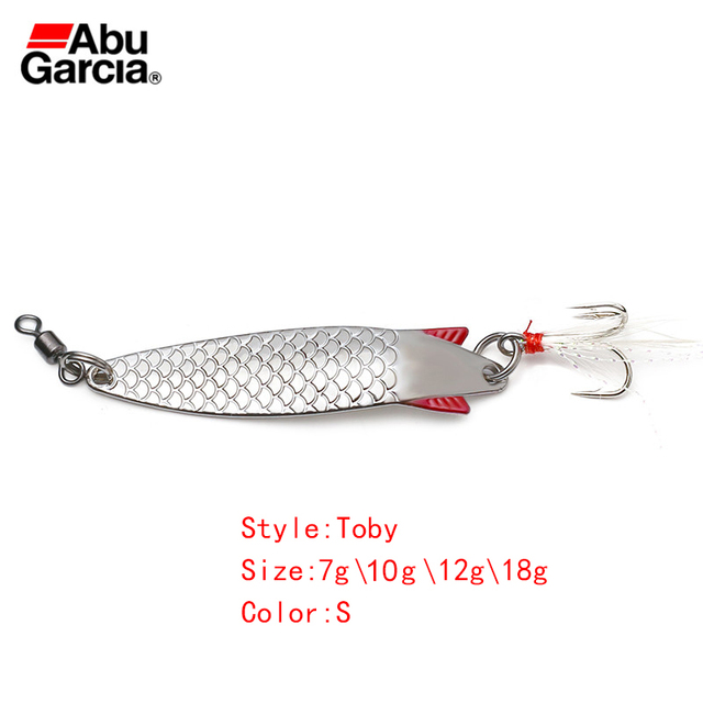Abu Garcia Brand Toby Spoon Lure Silver Color Spoon Bait 7g 10g 12g 18g  Fishing Lure for bass trout pike freshwater & saltwater