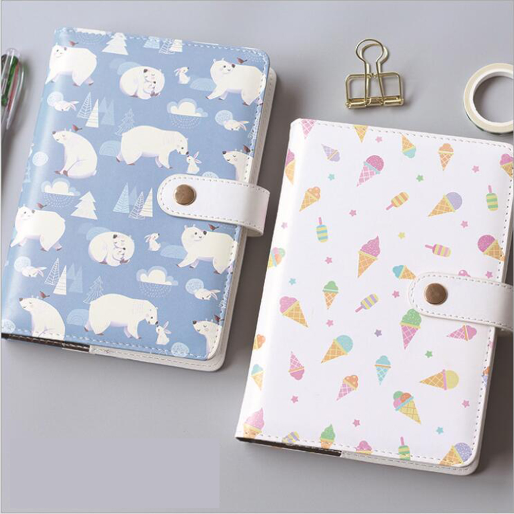 A5 Colored Cartoon Daily Plan Inner Pages's Journals School Student Noted Scheduling Diary Leather Waterproof Reused Organizer good and easy products water leak detection system water leak detection equipment water leak detector devices