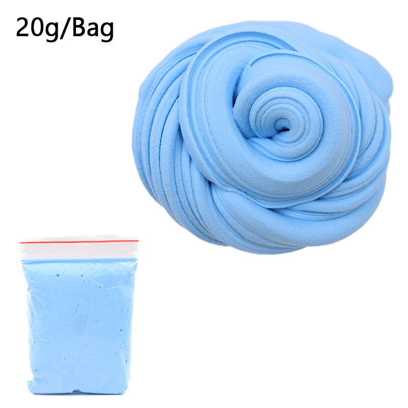 Slime 3D Fluffy Foam Clay 14 Solid Colors Cotton Slime Ball Kit No Borax Education Craft DIY Antistress Toys For Children