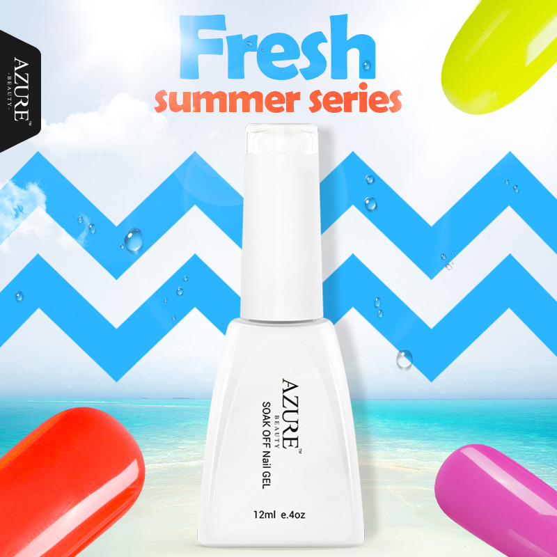 Azure Fresh Summer Series Colors UV Gel Polish Soak off Led Lamp Nail Gel Polish Varnish