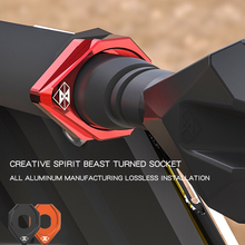 SPIRIT BEAST Motorcycle Accessories Turn Signals Lights Base LED Lamp Motor Stent Creative Products