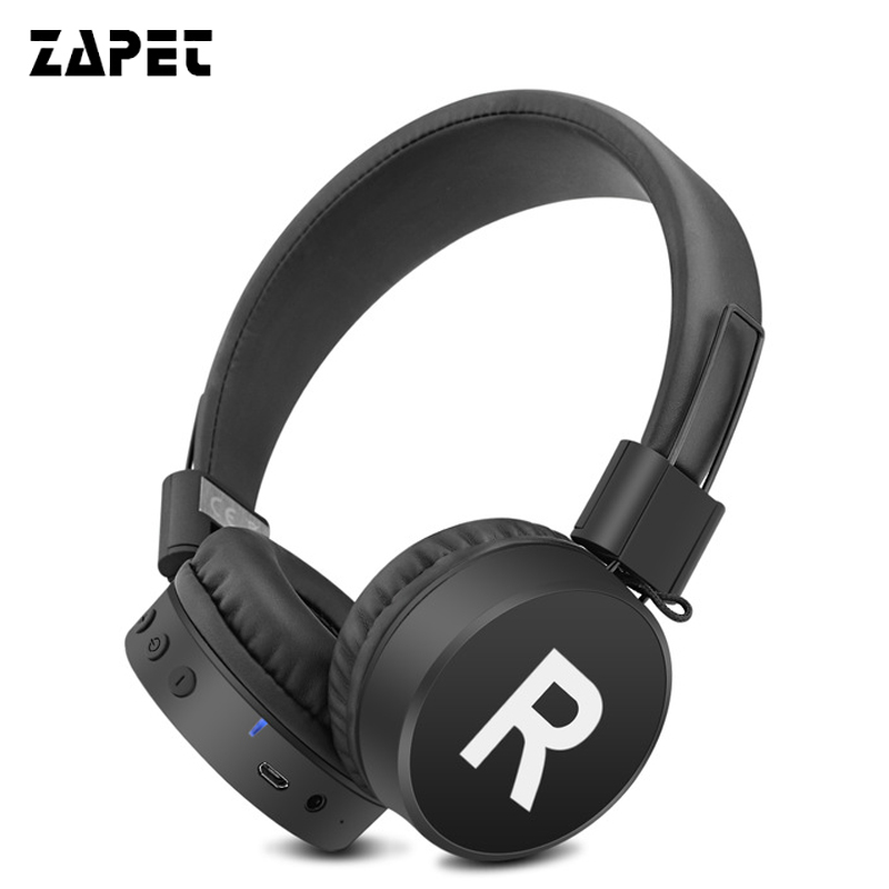 ZAPET Wireless Bluetooth Headphone Headsets Stereo HIFI Audio 3.5mm AUX Adjustable Bluetooth Headsets Travel Running Sports lexin 2pcs max2 motorcycle bluetooth helmet intercommunicador wireless bt moto waterproof interphone intercom headsets