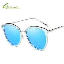 Cat Eye Sunglasses Mujeres Diseñador de la Marca Retro Gafas de Recubrimiento Colorido Lente Goggle Gafas de Sol Polarizadas Gafas de Sol de Los Hombres de Verano