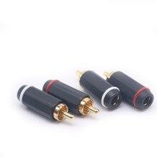4 шт./8 шт. XSSH аудио DIY HI Fi аудио видео кабель переменного тока 7 мм позолоченный разъем RCA разъем
