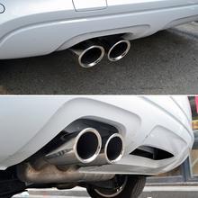 Tubos de escape de acero inoxidable para coche, puntas de silenciador para Golf, Tiguan, Passat, Touran, BMW 325i, 328i, 1 par