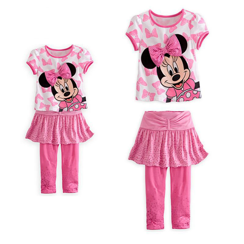 Pink Minnie Girls Clothing Sets Baby T Shirt Skirt Pants Two Piece Set Kids Clothes Toddler Girl Clothing Roupas Infantis Menina кобура кобура gletcher поясная для clt 1911