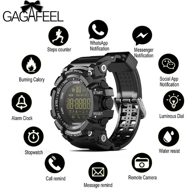 Gagafeel EX16 Smart Watch Notification Remote Control Pedometer Sport Watch IP67