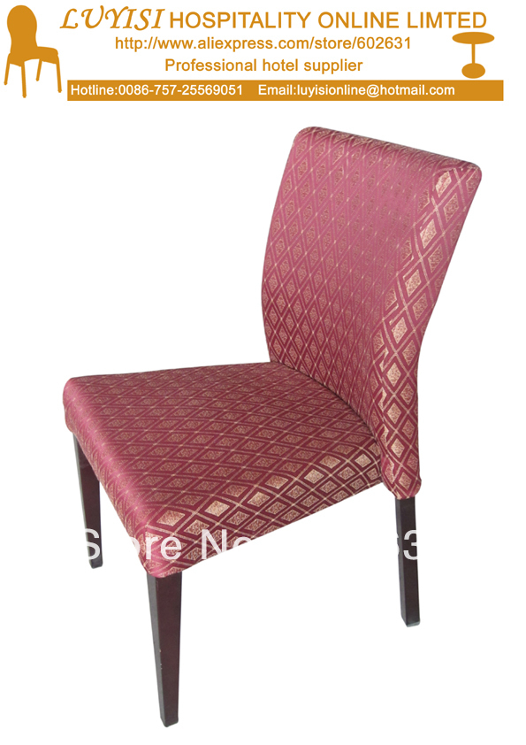 Upholstered Aluminum Stacking Dining Chair LUYISI2000 For Hotels Restaurants