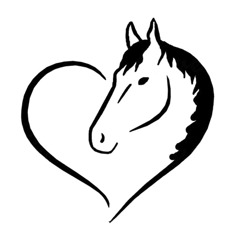 15cm 16cm love horse heart vinyl decal car sticker auto Rustic Horseshoe Clip Art Horseshoe SVG