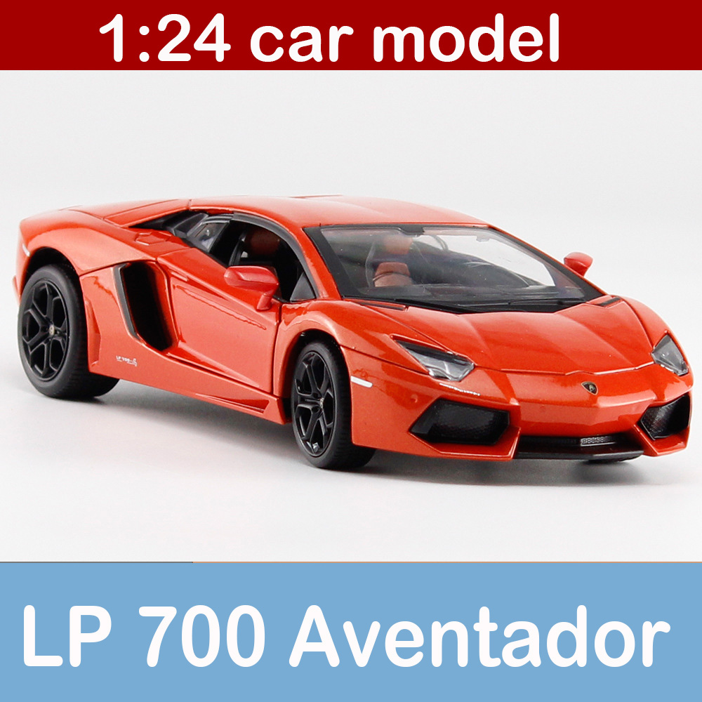 1:24 Aventador LP700-4 Alloy Static Car Model SportsCar Limited Edition Model Color Box Package Toys Gift For Boy italy sports car reventon alloy static model 1 24 convertible car limited edition model color box package toys gift