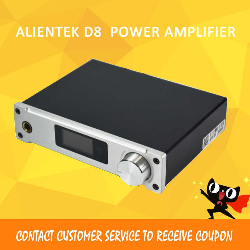 ALIENTEK D8 Class D Amplifier Full Pure Digital HiFi Stereo Amplifiers USB Coaxial Optical Audio Power Amplificador  PCM2704