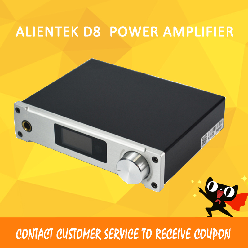 ASD Amplifier Class D ALIENTEK D8 Full Pure Digital HiFi Stereo Amplifiers USB Coaxial Optical Audio Power Amplificador PCM2704 alientek d8 class d xmos 80w 2 mini hifi stereo audio digital amplifier coaxial optical usb amplifier power supply