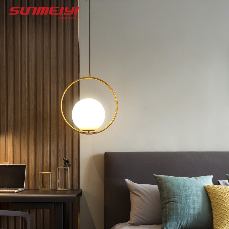 Nordic Pendant Lights Glass Lamp Fixtures luminaria Living room Bar Bedroom Postmodern Pendant Lighting lustre pendente diamond himmeli pendant lights black iron art birdcage pendant lamp suspension for living room bedroom lighting fixtures pl321 page 5