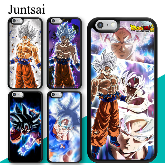 online store 76637 defd5 US $2.94 5% OFF|Juntsai Goku Ultra Instinct Dragon Ball Super DBS Phone  Case For iPhone X XR XS MAX 8 7 Plus 6 6s 5s TPU Case Back Cover Capa-in ...