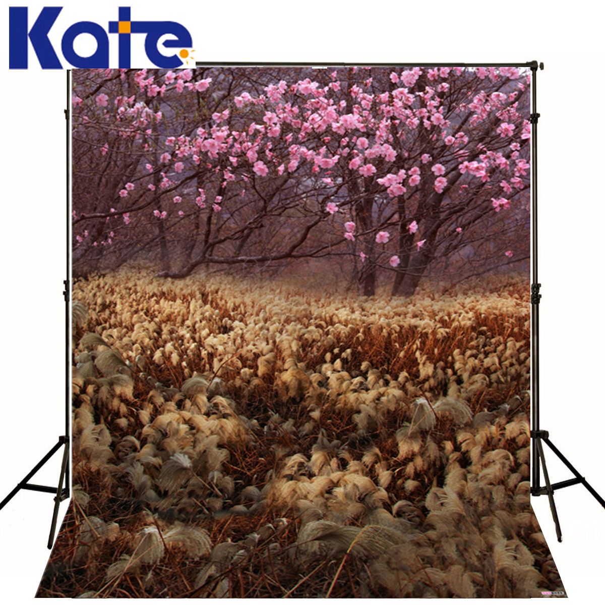 KATE Newborn Backdrop Pink Flowers Trees Baby Photography Backdrops Scenery Background Spring Backdrop for Photo Shoot Studio flame trees of thika