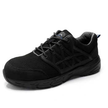 new design men plus size steel toe caps working safety shoes construction site worker shoe black security boots protect footwear