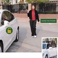 PKE Keyless Entry Zentral Locking Push Taste Zündung Türschloss Universal Auto Alarm SmartPhone Steuerung Auto Alarm System 686A-in Alarmanlage aus Kraftfahrzeuge und Motorräder bei