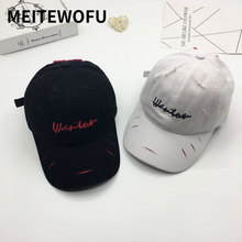 Fashion mens hat Letter embroidery Wild shabby simple summer baseball cap couple men and women Spring Casual visor caps Snapback