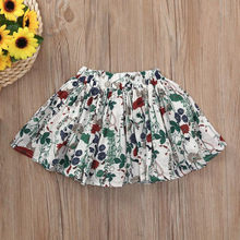 Summer Kid Baby Girls Floral Printed Tutu Shorts Skirts for girls Tulle Toddler Satin Outfits Pettiskirt Children Party clothes(China)