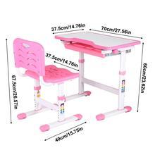 Регулируемый детский стол и стул для учебы, детский художественный стол для занятий спортом, набор для детского художественного стола, металлический каркас
