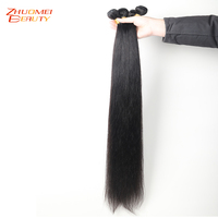 Zhuomei Hair 28Inch 30 32 34 36 38 40 Inch Bundles Peruvian Straight Hair Weave Bundles 1PC/3PCS/4PCS Remy Human Hair Extensions