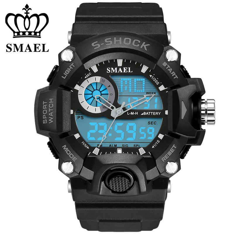 Klocka SMAEL Klockor för män Quartz Digital Mode Militär Casual - Herrklockor - Foto 3