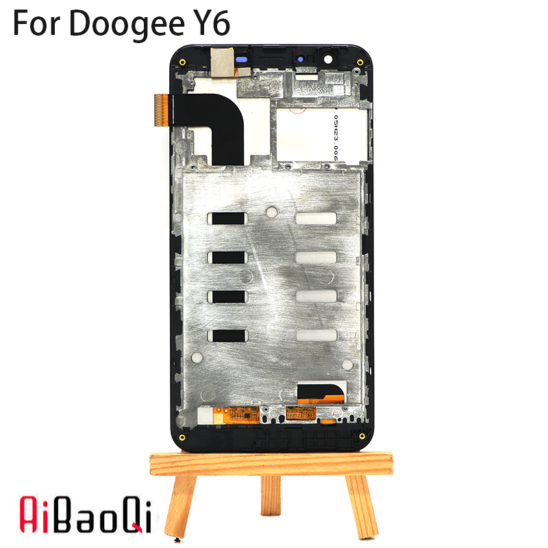 AiBaoQi New Original 5.5 inch Touch Screen + 1280X720 LCD Display +Frame Assembly Replacement For Doogee Y6/Y6C model Phone