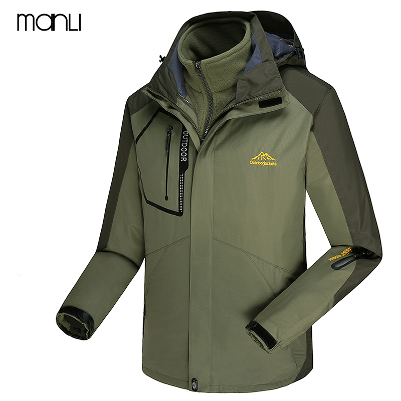 24b4c53371c38 2018 Men Women Winter Thicken Hiking Softshell Jacket Warm Fleece Windproof  Camping Skiing Coat 3 in