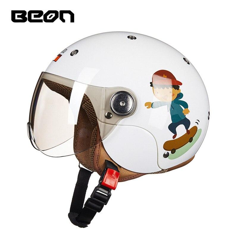 Haute qualité marque BEON enfants moto casque garçon dessin animé casque fille Scooter casque noël cadeaux d'anniversaire pour les enfants