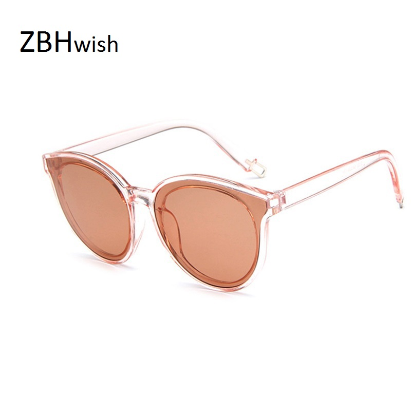 Fashion Women Solbriller Cat Eye Shades Luksus Brand Designer Sun Glasses Integreret Eyewear Candy Farve UV400