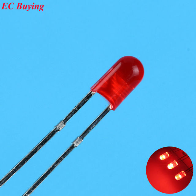 3mm red led round boundless light emitting diode diffused fogultra rh aliexpress com