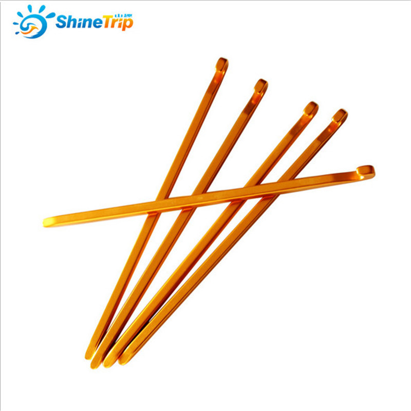 Tent Nail (100 pcs) 16cm Quadrilateral Aluminium Alloy Tent Stake Camping Equipment Outdoor Tent Peg Tent Accessories-in Tent Accessories from Sports & Entertainment    1