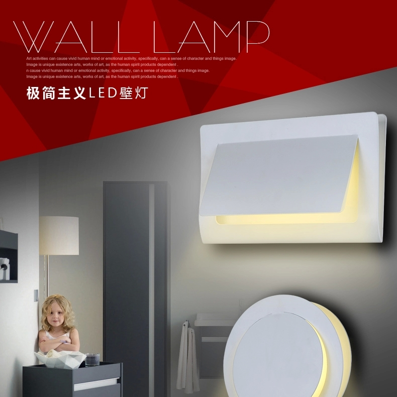 ФОТО Iron led wall lamp bed-lighting aisle lights living room background wall lamps 5007