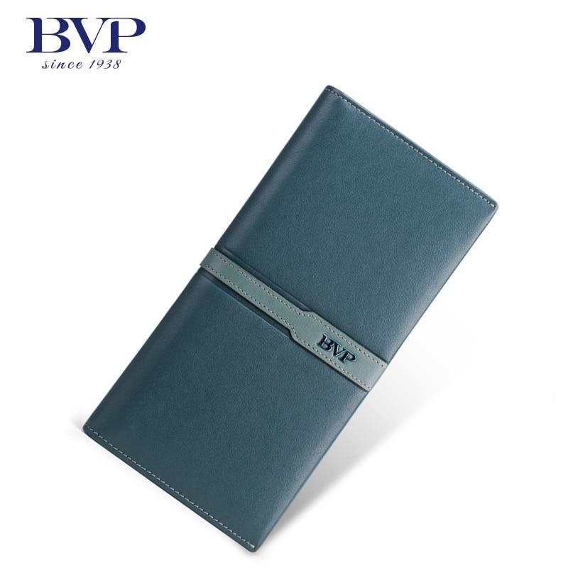 ФОТО BVP - High-end Men Leather Pass Holder 100% Genuine Leather Slim Bifold Wallet ID Credit Card Holder Organizer Wallet Clutch J50