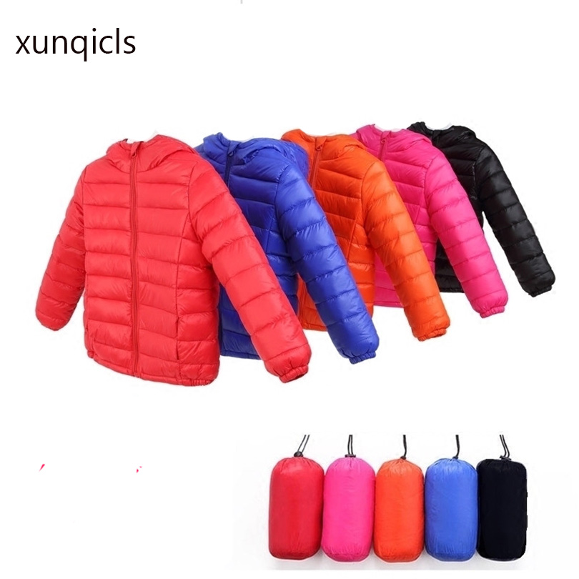 xunqicls 2017 Boys Winter Down Jackets Children Girls Warm Coats Baby Parka Cotton-padded with Hooded Outerwear Clothes children winter coats jacket baby boys warm outerwear thickening outdoors kids snow proof coat parkas cotton padded clothes