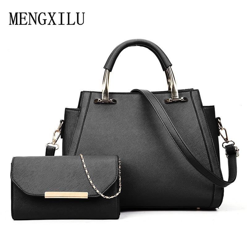 90302e08ef94ac Composite Bag 2 pcs/set Handbags Women Bags Designer Purses And Female  Handbags Tote Women Pu Leather Shoulder Messenger Bags-in Top-Handle Bags  from ...
