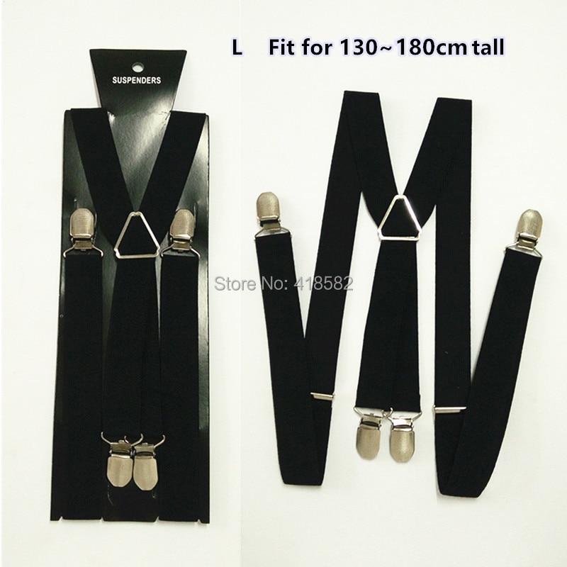 BD002-L taille Fashional hommes bretelles 2.5*100 CM élastique x-back suspenders10 PCS/LOT livraison gratuite
