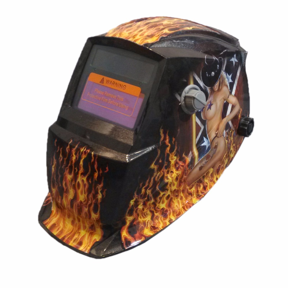 Newest Free Shipping 900MNSexy Girl Solar LI Battery Auto Darkening TIG MIG MMA MAG Electric Welding Mask/Helmets/Welder Cap free shipping new lmm welder machine welding foot pedal control current for tig mig plasma cutter cnc soldering iron