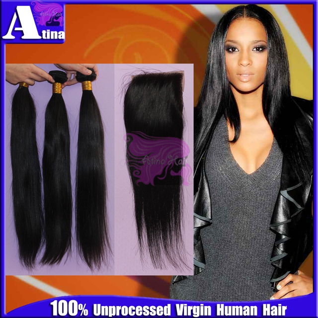 6a Unprocessed Russian Virgin Hair With Closure Remi Russian Hair
