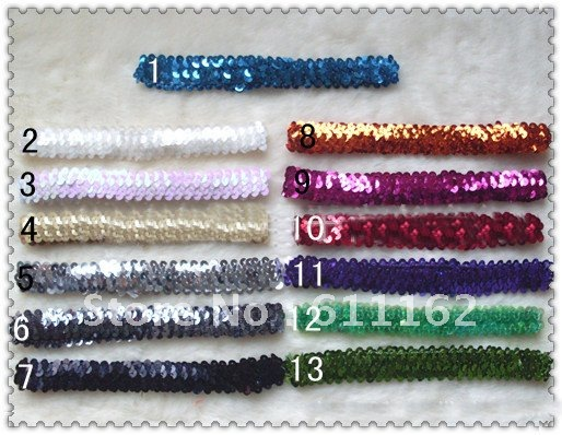 100 шт. 1 ''обруч с бантом детские повязки для девочек стрейч 1 дюйм застежка-молния 14 цветов@ 1qa