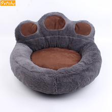 Petshy Pet Dog Bed Sofa Warm Plush Cat Puppy Sleeping Baskets Cushion Fall Claw Pattern Winter Small Large Dogs Kennels Nest