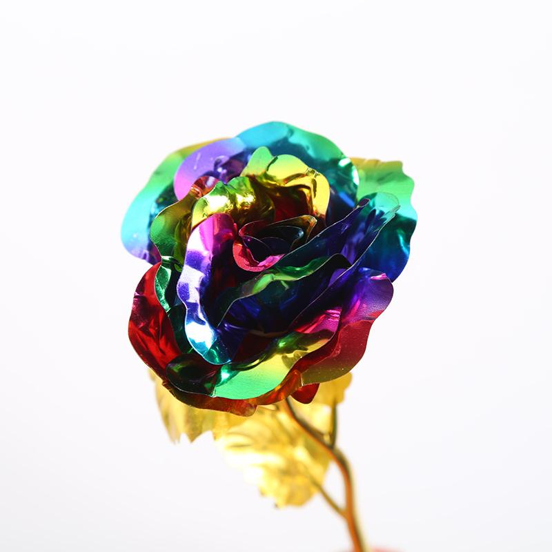 Multi-Color Plated Rose Artificial Flower Romantic Valentines Day Mothers Day Gift Home Weeding Decoration Fleur Bouquet
