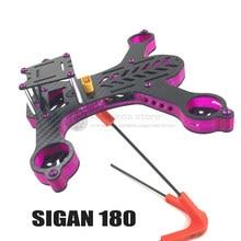 DIY FPV cross race mini drone Sigan180 quadcopter full carbon fiber frame unassembled